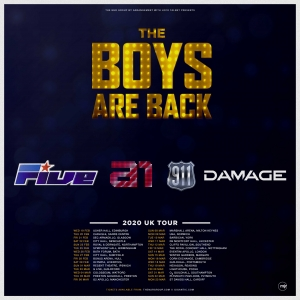 The Boys are Back! 5ive / A1 / Damage / 911 at The Forum in Bath on 26 February 2020