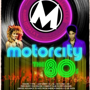 MOTORCITY: THE 80S at Komedia in Bath on Saturday 5 October 2019