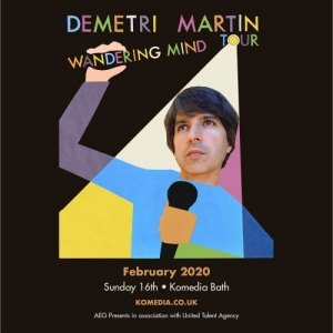 DEMETRI MARTIN at Komedia in Bath on Sunday 16 February 2020