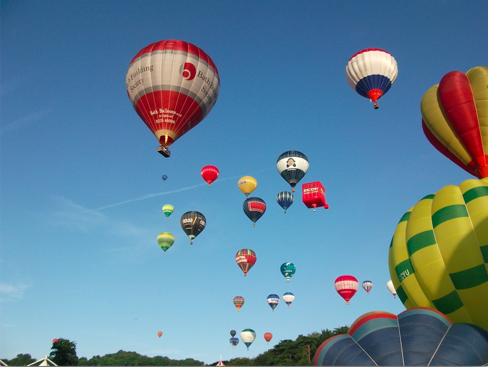 Bath Balloon rides at Bristol Balloon Fiesta