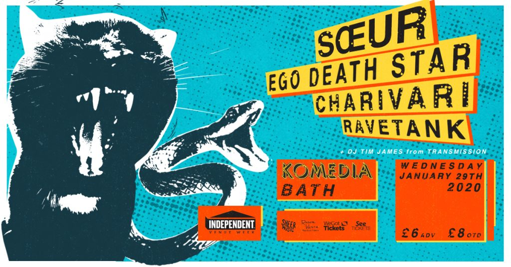 Soeur, Ego Death Star, Charivari and Ravetank at Komedia Bath.