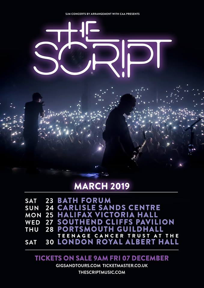 The Script 2019 UK tour.