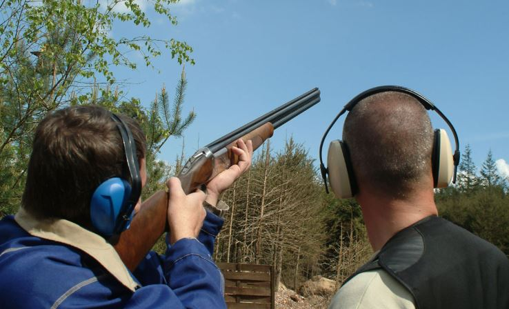 Clay Pigeon Shooting at Bath Stag & Hen.